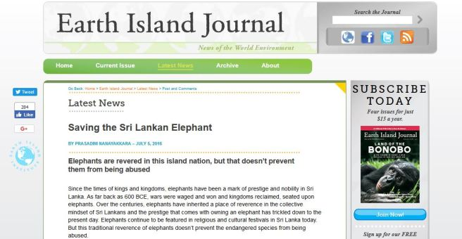 http://www.earthisland.org/journal/index.php/elist/eListRead/saving_the_sri_lankan_elephant/